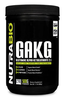NutraBio Glutamine AKG 2:1 Powder - 500 Grams