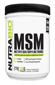 NutraBio MSM (OptiMSM) - 500 Grams