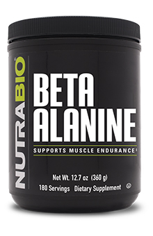 NutraBio Beta Alanine Powder - 360 Grams