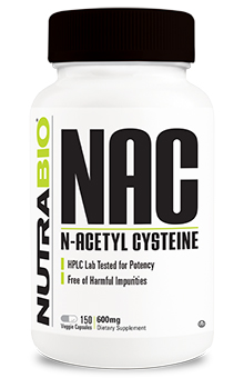 NutraBio N-Acetyl-Cysteine (NAC) (600 mg) - 150 Vegetable Capsules