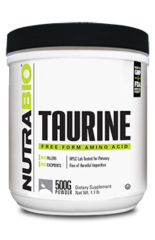 NutraBio Taurine Powder - 500 Grams