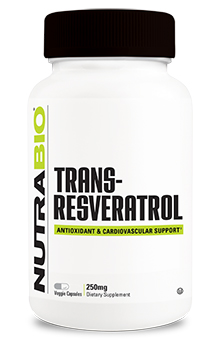 NutraBio trans-Resveratrol (250mg) - 150 Vegetable Capsules