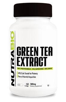 NutraBio Green Tea Extract (500mg) - 150 Vegetable Capsules