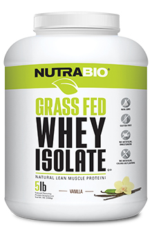 NutraBio Grass-Fed Whey Protein Isolate - 5 lb