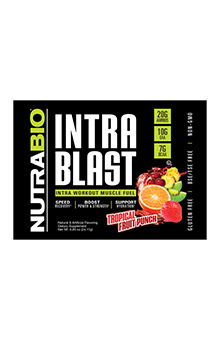 NutraBio Intra Blast - To-Go Pack (Fruit Punch)
