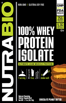 NutraBio Whey Protein Isolate - To-Go Pack (Chocolate Peanut Butter)