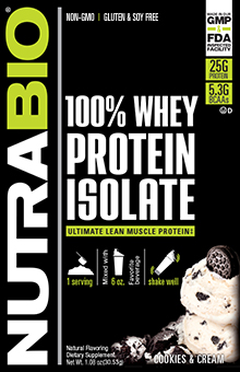 Whey Protein Isolate - To-Go Pack (Cookies and Cream)
