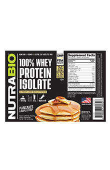 NutraBio Whey Protein Isolate - To-Go Pack (Pancake and Maple Syrup)