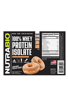 NutraBio Whey Protein Isolate - To-Go Pack (Cinnamon Sugar Donut)