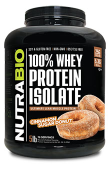 NutraBio Whey Protein Isolate - 5 Pounds