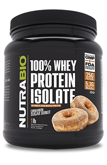 NutraBio Whey Protein Isolate - 1 Pounds