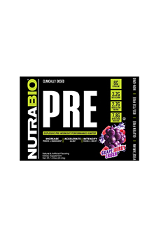 NutraBio PRE Workout V5 - To-Go Pack (Grape Berry Crush)