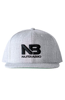 NutraBio NutraBio Hat - Light Grey (Black Logo)