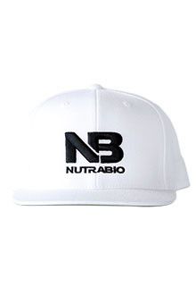 NutraBio Hat - White (Black Logo)