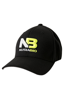 NutraBio Hat - Black Flex Fit (Large - XL)