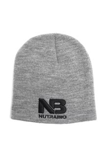 NB Logo Beanie - Heather Gray (Black Logo)