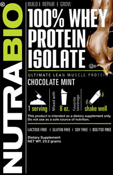 Whey Protein Isolate - To-Go Pack (Chocolate Mint)