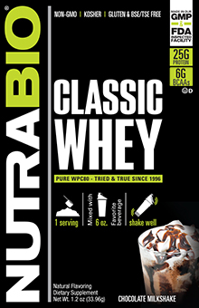 NutraBio Classic Whey Protein - To-Go Pack (Chocolate)