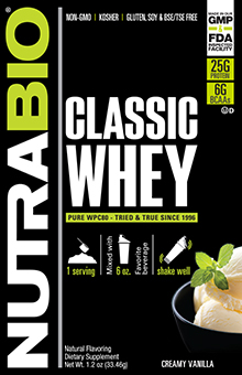 NutraBio Classic Whey Protein - To-Go Pack (Vanilla)