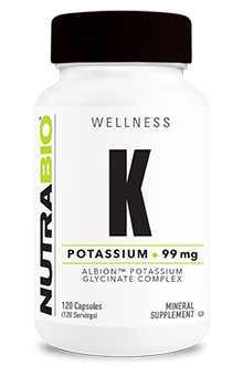 NutraBio Potassium Complex 99mg - 120 Vegetable Capsules