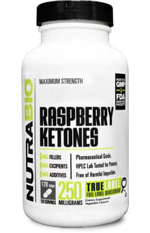 Pure Raspberry Ketone (250mg) - 120 Vegetable Capsules