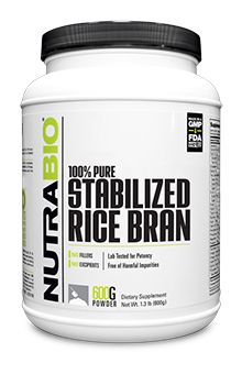NutraBio Stabilized Rice Bran - 600 Grams