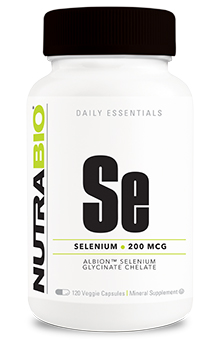 NutraBio Selenium (200mcg) - 120 Vegetable Capsules
