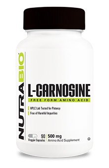 NutraBio L-Carnosine (500mg)  - 90 Vegetable Capsules
