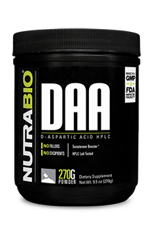 NutraBio D-Aspartic Acid Powder - 270 Grams