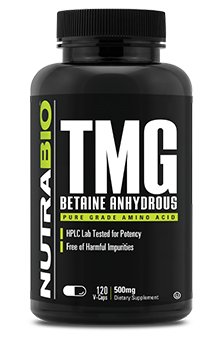 NutraBio TMG (Betaine Anhydrous) (500mg) - 120 Vegetable Capsules