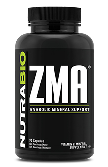 NutraBio ZMA - 90 Vegetable Capsules