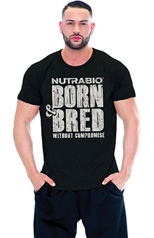 NutraBio Born and Bred T-Shirt - (Unisex)