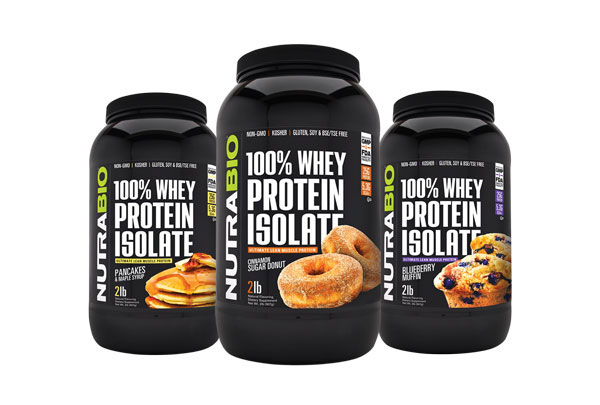 NutraBio Whey Protein Isolate Breakfast Stack
