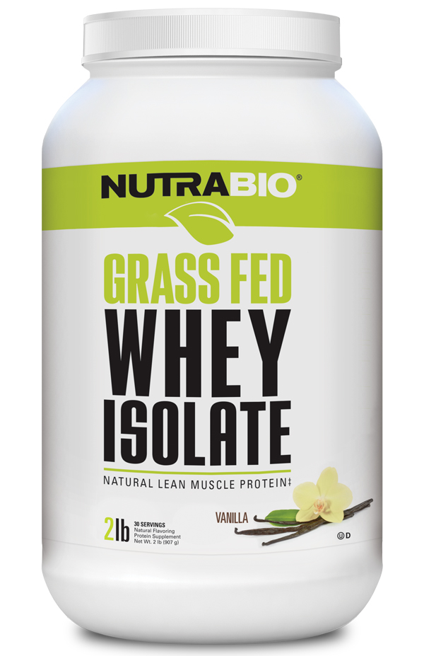 NutraBio Grass-Fed Whey Protein Isolate - 2 lb
