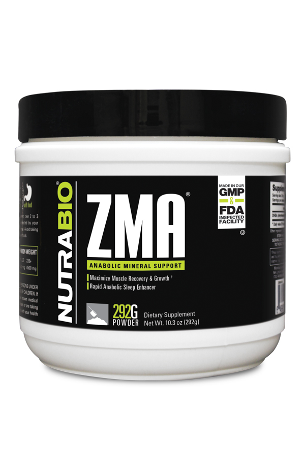 NutraBio ZMA - 292 Grams Powder