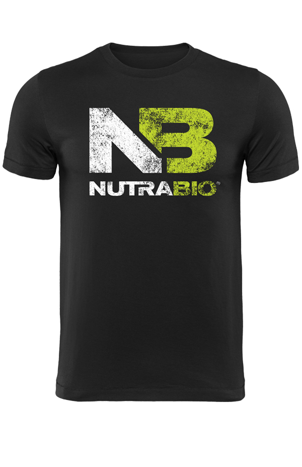NutraBio Distressed Logo T-Shirt Black (Unisex)