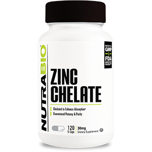 Chelated Zinc (30mg) - 120 Vegetable Capsules