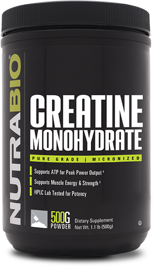 NutraBio Creatine Monohydrate Powder - 500 Grams