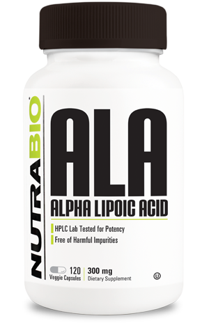 NutraBio Alpha Lipoic Acid (300mg) - 120 Vegetable Capsules