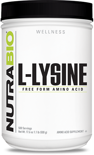 Image of NutraBio Lysine Powder - 500 Grams