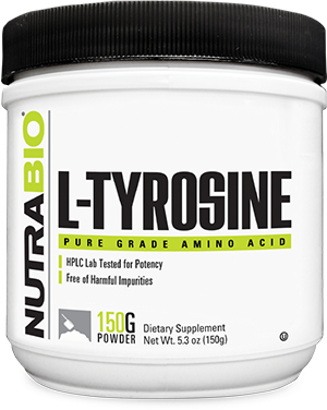 NutraBio Tyrosine Powder - 150 Grams
