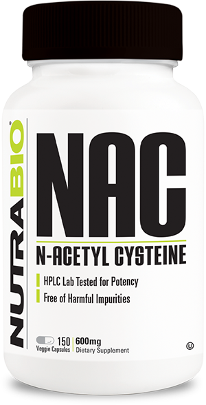 Image of NutraBio N-Acetyl-Cysteine (NAC) (600 mg) - 150 Vegetable Capsules