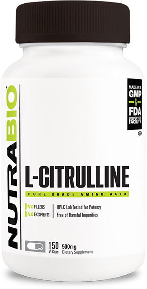 Image of NutraBio Citrulline (500 mg) - 150 Vegetable Capsules