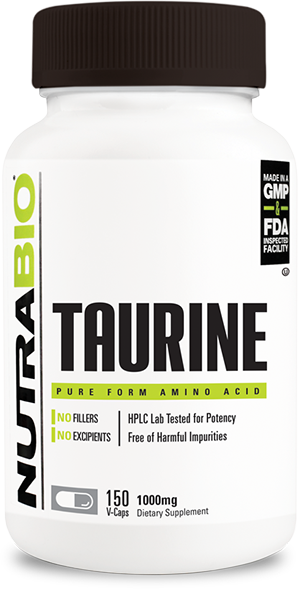 Image of NutraBio Taurine (1000mg) - 150 Vegetable Capsules