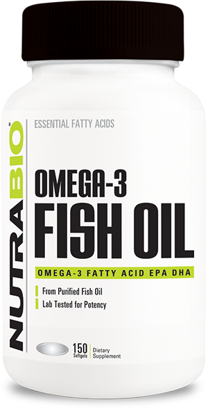 Image of NutraBio Omega 3 Fish Oil - 150 Softgels