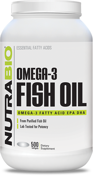 Image of NutraBio Omega 3 Fish Oil - 500 Softgels