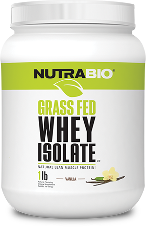 NutraBio Grass Fed Whey Protein Isolate - 2 lb