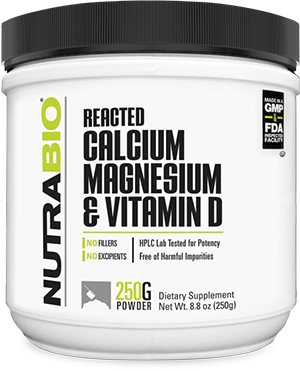 Image of NutraBio Reacted Calcium Magnesium Vitamin-D - 250 Grams