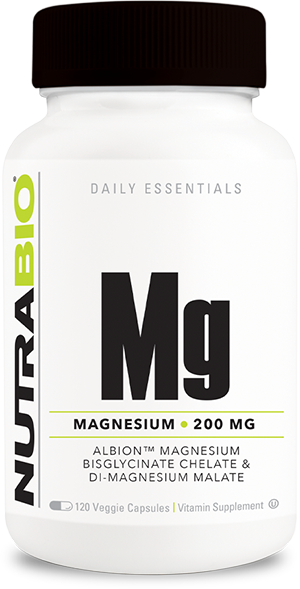 NutraBio Reacted Magnesium - 120 Vegetable Capsules