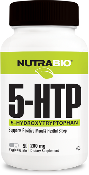 Image of NutraBio 5-HTP (200mg) - 90 Capsules